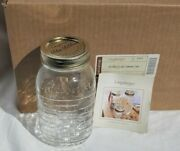 Longaberger One Quart Canning Jars Blue Ribbon Collection Set Of 6 - New In Box