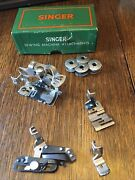 Vintage Singer Sewing Machine Attachments 160809 For 221 Machines 4 Pieces