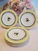 6 Royal Doulton Carmina 9 Luncheon Plates Made In Indonesia