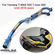 Motocycle Exhaust System Front Link Connector Pipe For Yamaha T-max 530 500 Slip