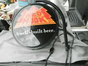Red Hook A Well Built Beer 2 Sided Lighted Sign With Mount Bracket