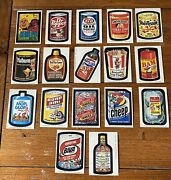 Topps 1974 Wacky Packages 8th Series Complete Set W Complete Checklist Puzzle