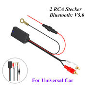 1pcs Universal 2rca Connector Radio Stereo Audio Car Bluetoothv5.0 Adapter Cable