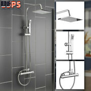 Bathroom Shower System Set Wall Mounted Handhled Sprayer Thermostatic