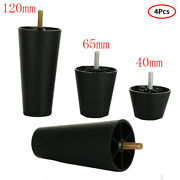 4 Plastic Round Tapered Cabinet Feet Furniture Coffee Table Sofa Chair Legs 2-5