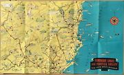 Northern Lakes And Hunter Valley, New South Wales, Australia, Touristic Map.