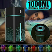 1000ml Ultrasonic Air Humidifier Usb Led Purifier Aroma Essential Oil Diffuser