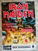 Iron Maiden Vintage Promo Poster No Prayer On The Road 1990 Collectable Anthrax