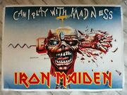Iron Maiden Vintage Promo Poster Can I Play With Madness Collectable Pristine