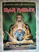 Iron Maiden Vintage Promo Poster Seventh Son Collectable 1980and039s Original Superb