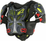Alpinestars A-10 Full Chest Protector Anthracite/red Md/lg