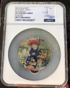 Ngc Pf70 Micropuzzle Treasures Two Sisters Renoir 3oz Proof Silver Coin Palau