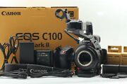 【top Mint In Box 61hour】 Canon Eos C100 Mark Ii Cinema Camera From Japan 952