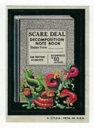 1974 Topps Wacky Packages 6th Series 6 Scare Deal Note Book Nm- O/c