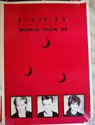 Rush Vintage Promo Poster Hold Your Fire Collectable 1980and039s Original Superb Red