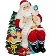 Waterford 2015 Holiday Heirlooms Ceramic Cookie Jar Santa With List 40010760