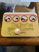 The Beatles 1999 Vandor Yellow Submarine Tin Tote Lunch Box With Tag Great Shape