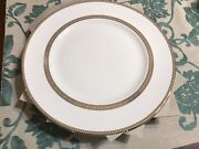 Vera Wang Wedgwood Vera Lace Gold Set 6 Dinner Plates New Made In England