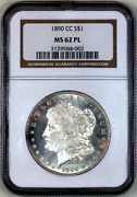 1890-cc Ms62 Pl Ngc Proof-like Morgan Silver Dollar Superb Eye Appeal