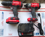 Craftsman 20v Hammer Drill , Impact Driver 2 Batteries And Charger