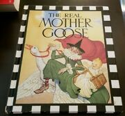 1989 Real Mother Goose Nursery Rhymes Blanche Fisher Wright Checkerboard Press