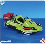 Playmobil Speed Boat 7656 Rare - New Sealed W/outboard Motors Toy Vehicle Water
