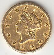 Just Reduced Better Date 1849-o Type 1 Gold Dollar Xf+ Details
