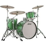 Ludwig Classic Maple 3-piece Pro Beat Shell Pack W/24 In. Bass Green Sparkle Ln