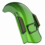 Radioactive Green Single Cutout Dominator Stretched Rear Fender For 2014+ Harley