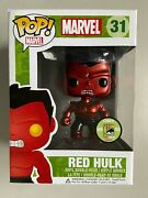 Funko Pop Marvel Metallic Red Hulk 2013 Sdcc Exclusive Comic Con Damaged Package
