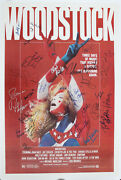 Woodstock 69 Film Poster From 79 Signed By 29 Csn The Who Ten Years After ++
