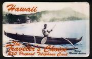 20. Hawaii 'traveler's Choice' Outrigger Boat Thick Font Specimen Phone Card