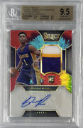 2015-16 Select Dand039angelo Russell Tie-dye Prizm Rookie Auto Lakers /25 Bgs 9.5