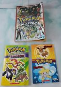 🔥pokemon Platinum Version Nintendo Ds Guide Book W/map And 2 Extra Books Lot🔥