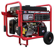 All Power 10000-w Portable Gas Powered Electric Start Generator With Wheel Kit