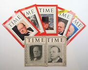A Complete Collection Of Winston Churchilland039s 7 Appearances On The Cover Of Time