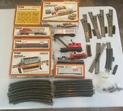 Huge Lot Of Tyco Vintage Railroad Train Cars, Engine, Track, And Accessories