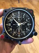 Wwii Jaeger Us Military Aircraft Cockpit Civil Date Clock Navy