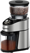 Electric Conical Burr Coffee Grinder Stainless Steel Coffee Grinder 230g Large
