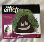 Chia Pet Emoji Plants Seeds And Bulbs Poopy Poop Pottery Planter New