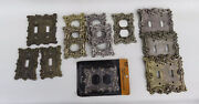 Vintage Brass Light Switch Outlet Toggle Plate Covers Huge Lot Of 12 Used And New