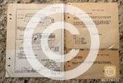 Rare Antique Chicago And North Western Railway Motor Truck Blueprint Railroad