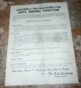 1964 Ertl John Deere D-63 Pedal Tractor Assembly And Parts List Good Shape Used