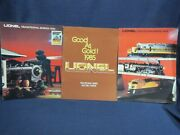 Lionel Toy Trains 1984 1985 Post War  Three 3 Color Catalogs Nice