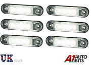 6x Front White Led Clearance Marker 12/24v Lights Position Lamps For Truck