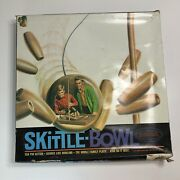 Vintage Skittle-bowl 1969 Aurora Bowling Game Dick Weber Box Indoor Wood Pins