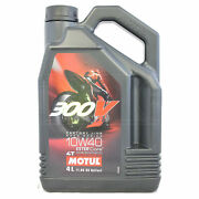 Motul 300v 4t Factory Line 10w-40 10w40 Racing Motorcycle Engine Oil 4 Litres 4l