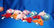 Dolphin Plush Keychains Clown Fish Key Chains Lobster Key Chains Favors Set Of 8