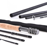 Fly Fishing Rod 4/5/6/7/8 Wt Graphite 4 Pieces Fly Rod 9ft Fast Action