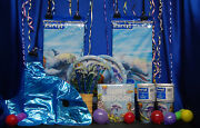 Dolphin Party Set 18 Toppers Cups Plates Napkins Tablecover Banner Invites